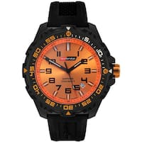 Isobrite Men's T100 Valor Series Black Orange Watch by Armourlite