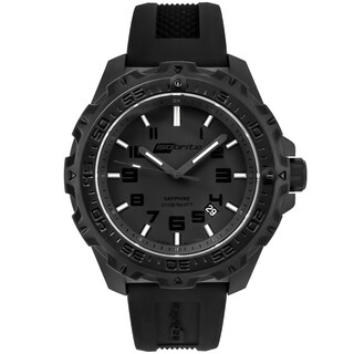 Isobrite Men's T100 Eclipse Black Dial Tritium Watch by Armourlite
