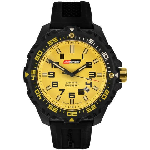 Isobrite Men's T100 Valor Series Yellow Dial Watch by Armourlite