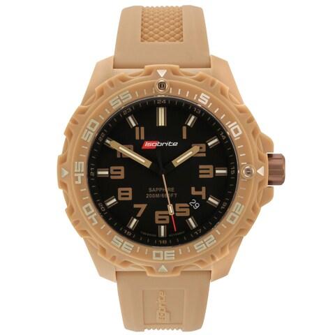 Isobrite Men's T100 Valor Series Tan Black Dial Watch by Armourlite