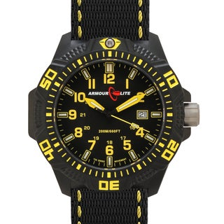Armourlite Men's Caliber Series Polycarbon Yellow Tritium Watch