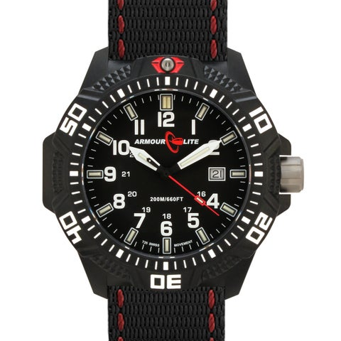 Armourlite Men's Caliber Series Polycarbon Black Tritium Watch