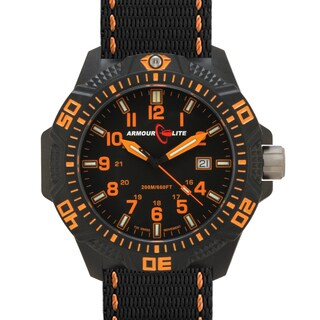 Armourlite Men's Caliber Series Tritium Polycarbon Orange Watch