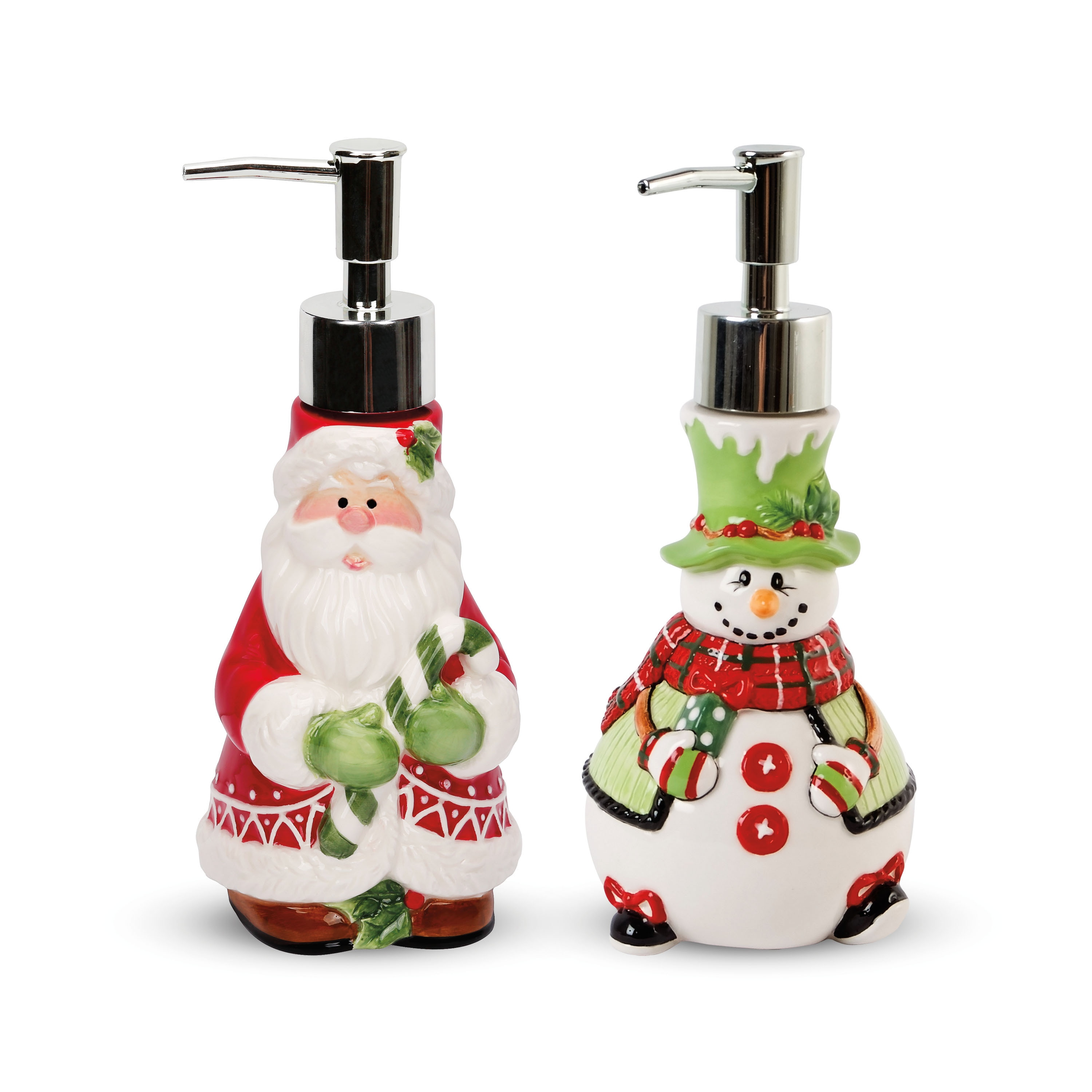 Shop Fitz And Floyd Holiday Soap Lotion Dispensers Set Of 2 Overstock 9495275
