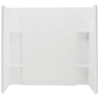 60-inch Complete Bath White Wallset with Backers