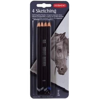 Derwent Sketch Pencils 4/Pkg-HB, 2B, 4B, 8B