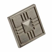 GlideRite 1.25-inch Craftsman Series Satin Nickel Square Cabinet Knobs (Pack of 10)