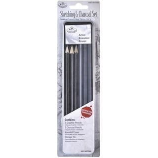 Sketching & Charcoal Set W/Tin