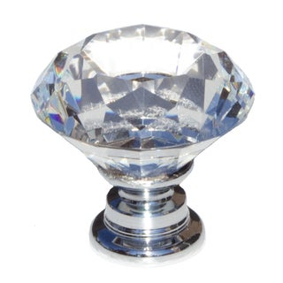 GlideRite Clear K9 Diamond-cut Crystal 1.125-inch Cabinet Knobs (Pack of 10)