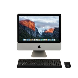 Apple MA877LL/A iMac 20-inch Core 2 Duo 4GB RAM 320GB HDD El Capitan- Refurbished