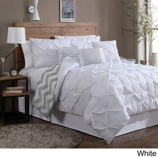 Porch & Den Crestline Bienville Pinch Pleat 7-piece Comforter Set (More options available)