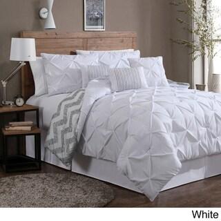 Porch & Den Crestline Bienville Pinch Pleat 7-piece Comforter Set (More options available)
