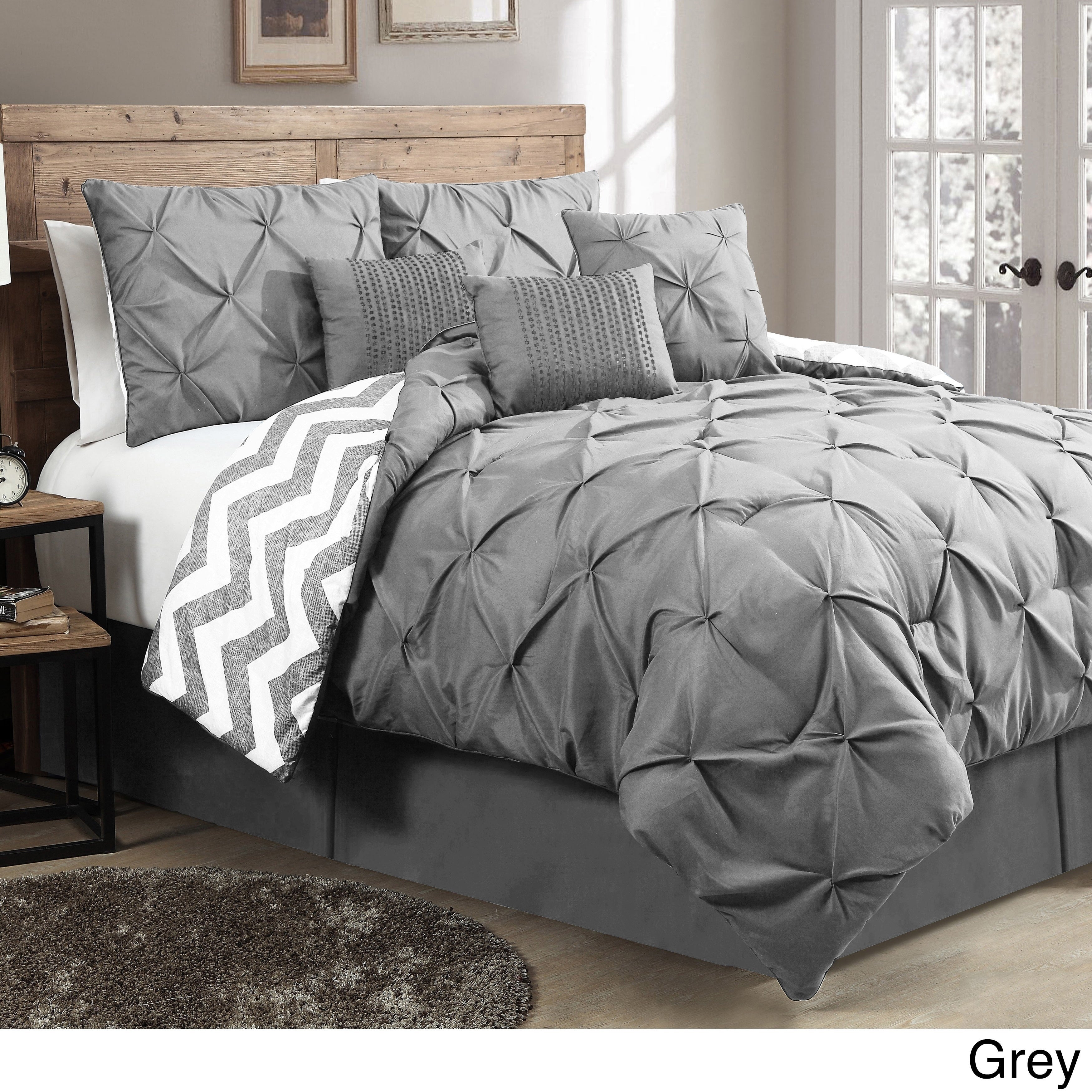 comforter duvet pinch bedding piece nikola pleat designs com cover pintuck king