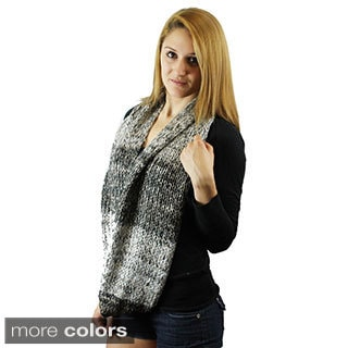 Le Nom Two-tone Crochet Infinity Scarf