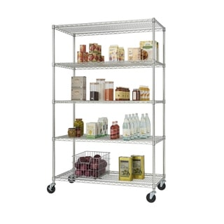 Trinity 5-Tier Chrome EcoStorage Shelves