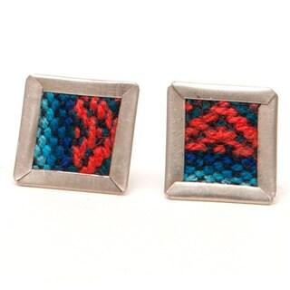 Escher Repurposed Fabric Stud Earrings (Bolivia)