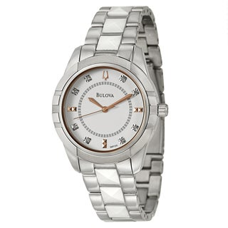 Bulova Women's 98P135 'Diamonds' Stainless Steel Quartz Watch