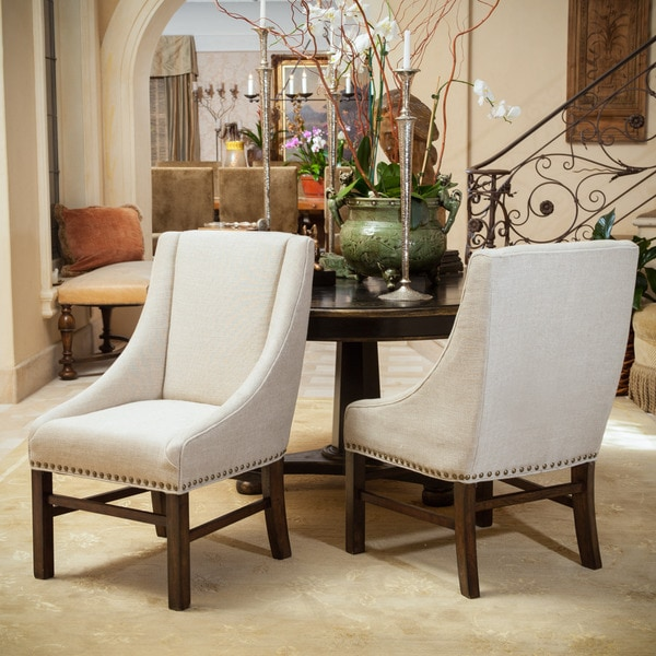 james fabric dining chair set of 2 by christopher knight