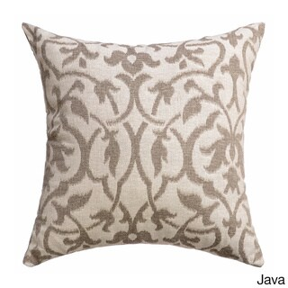 Azure Heritage Faux Linen Feather Filled Throw Pillows (Set of 2)
