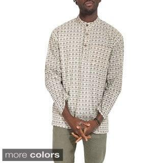 Men's Om 'In My Soul' Cotton Kurta Shirt (Nepal)