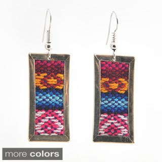 Long Deco Aguayo Earrings (Bolivia)