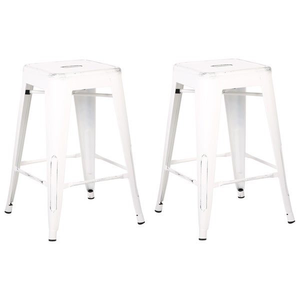 Vintage Industrial 24 Inch Stools Set Of 2 Free