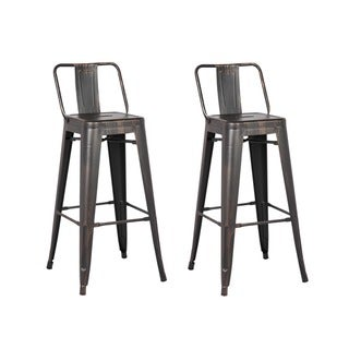Link to Carbon Loft Ruska Black Bar 29-inch Bar Stool (Set of 2) Similar Items in Dining Room & Bar Furniture