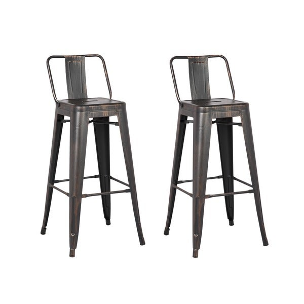 Carbon Loft Ruska Black Bar 29-inch Bar Stool (Set of 2). Opens flyout.