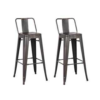 Clay Alder Home Coal Creek Black Bar Stool 29-inch (Set of 2)
