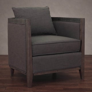 Elliot Smoke Linen Lounge Chair
