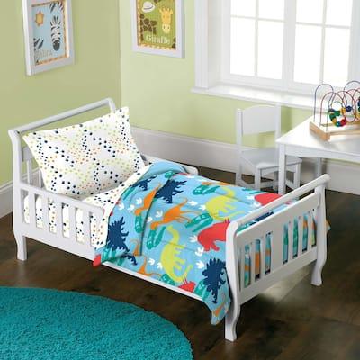 Dream Factory Dinosaur Prints 4-piece Toddler Comforter Set