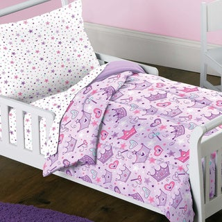 Dream Factory Stars and Crowns 4-piece Toddler Bedding Set