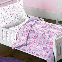 Dream Factory Stars and Crowns 4-piece Toddler Comforter Set