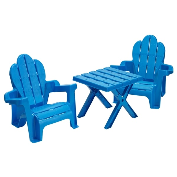 American Plastic Toys Adirondack Table and Chairs Set. Opens flyout.