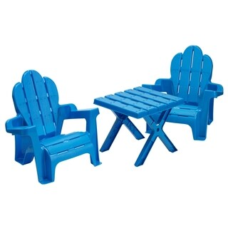 American Plastic Toys Adirondack Table and Chairs Set
