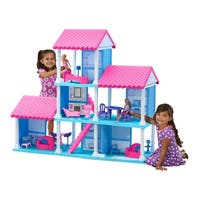 American Plastic Toys Pink/Purple/White Plastic Fashion Dollhouse