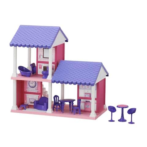 American Plastic Toys Fashion Doll Cozy Cottage, Purple