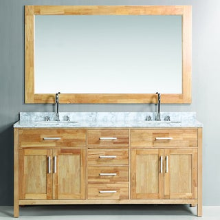 Design Element London Double Sink Vanity Set in Oak Color