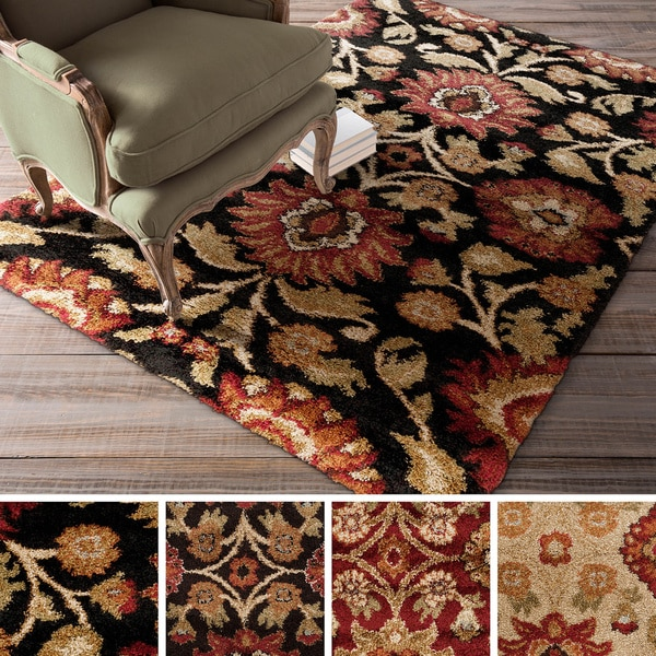 Hereford Floral Shag Area Rug 3 x 5 Free Shipping