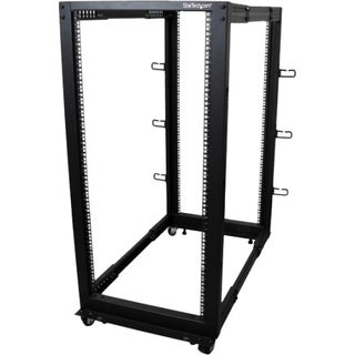 StarTech.com 25U Adjustable Depth Open Frame 4 Post Server Rack w/ Ca
