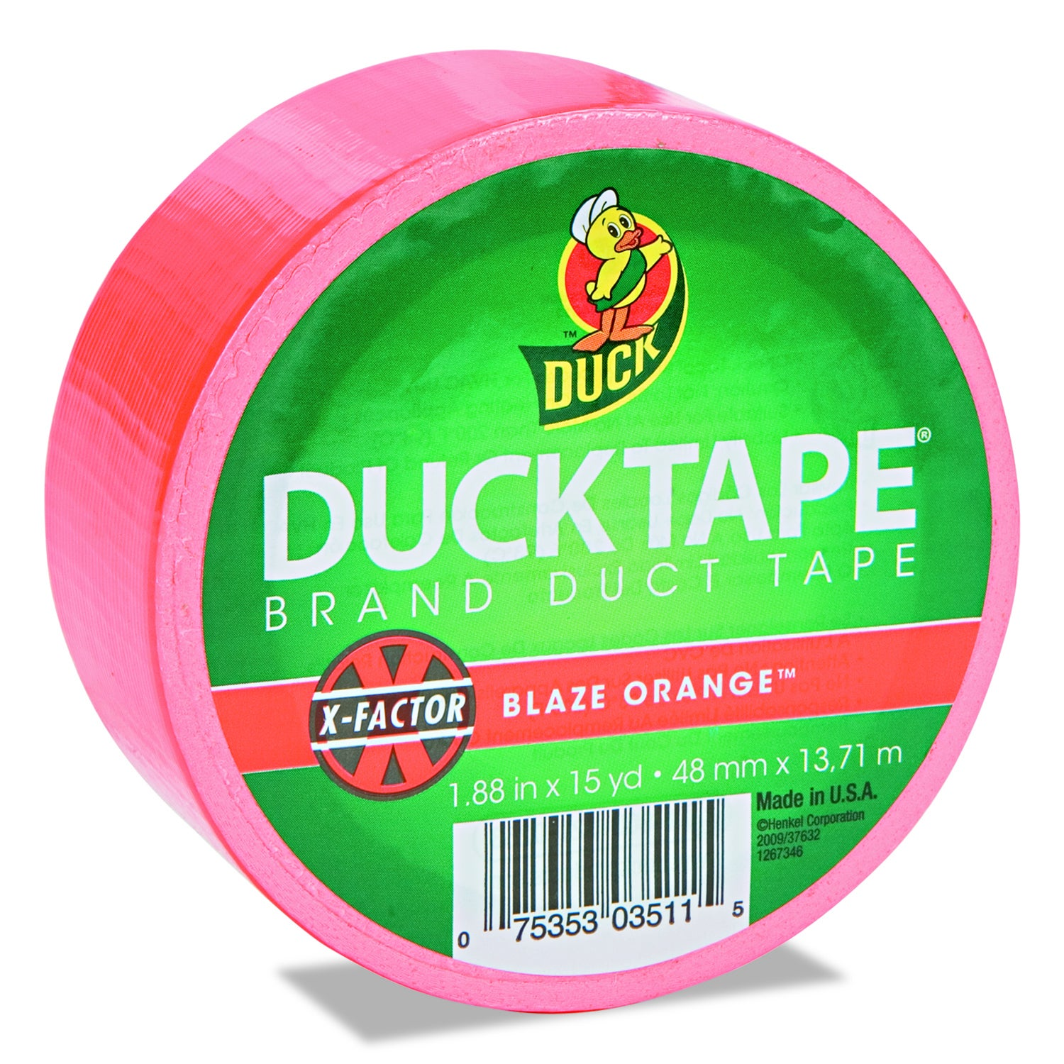 "Bright Colored Duck Tape 1.88""X15yd-Blaze Orange (Blaze O..."