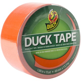 "Bright Colored Duck Tape 1.88""X15yd-Blaze Orange"