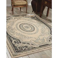Michael Amini  Platine Ivory Area Rug by Nourison (5'3 x 7'5)