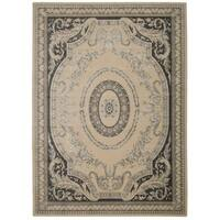 Michael Amini  Platine Ivory Area Rug by Nourison (7'6 x 10'6) - 7'6 x 10'6