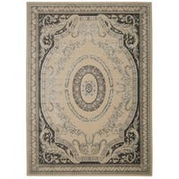 Michael Amini Platine Ivory Area Rug by Nourison - 9'3 x 12'9