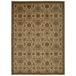 kathy ireland Ancient Times Persian Treasure Ivory Area Rug by Nourison (5'3 x 7'5)