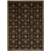 kathy ireland Ancient Times Persian Treasure Black Area Rug by Nourison (5'3 x 7'5) - 5'3 x 7'5