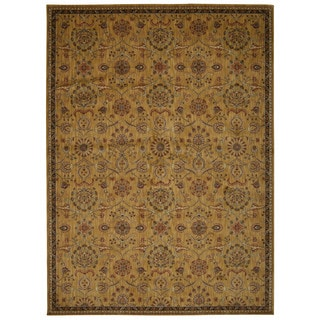 kathy ireland Ancient Times Persian Treasure Gold Area Rug by Nourison (5'3 x 7'5)