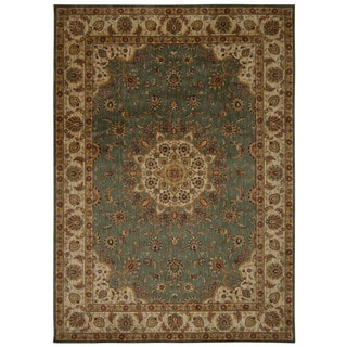 kathy ireland Ancient Times Palace Teal Area Rug by Nourison (9'3 x 12'9)