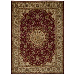 kathy ireland Ancient Times Palace Red Area Rug by Nourison (5'3 x 7'5)